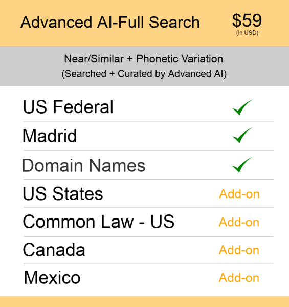 Advanced AI–Full Search US TM Searching
