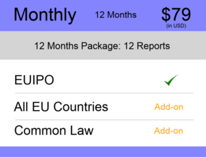Monthly – 12 Months Europe TM Monitoring