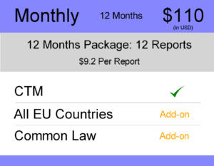 Monthly 12 months - Europe TM Monitoring