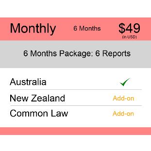 Monthly 6 Months AUS & NZ TM Monitoring