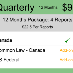 Image for Quarterly : Quarterly - 12 Months : Canada TM Monitoring