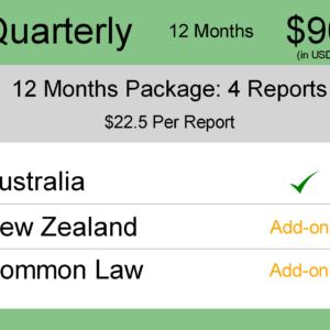 Image for Quarterly 6 Months : AUS & NZ TM Monitoring