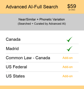 Advanced AI–Full Search Canada TM Searching