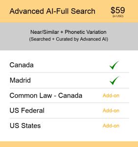 Advanced AI–Full Search Canada TM Searching