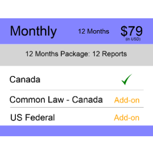 Canada TM Monitoring 12 Months