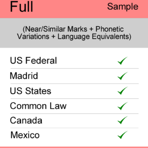 Image for Full Search : US TM Searching - Sample Report