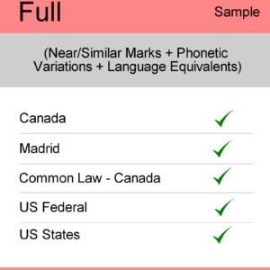 Image for Full Search : Canada TM Searching - Sample Report