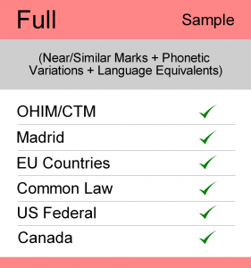 Image for Full Search : Europe TM Searching - Sample Report