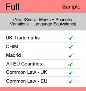 Image for Full Search : UK TM Searching - Sample Report