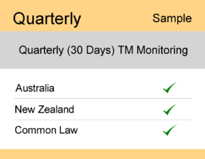 Image for Quarterly : AUS & NZ TM Monitoring - Sample Report