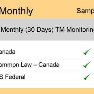 Image for Monthly : Canada TM Monitoring - Sample Report