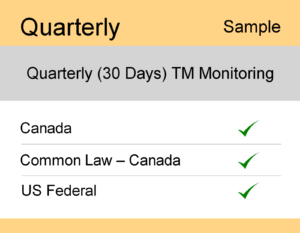 Image for Quarterly : Canada TM Monitoring - Sample Report
