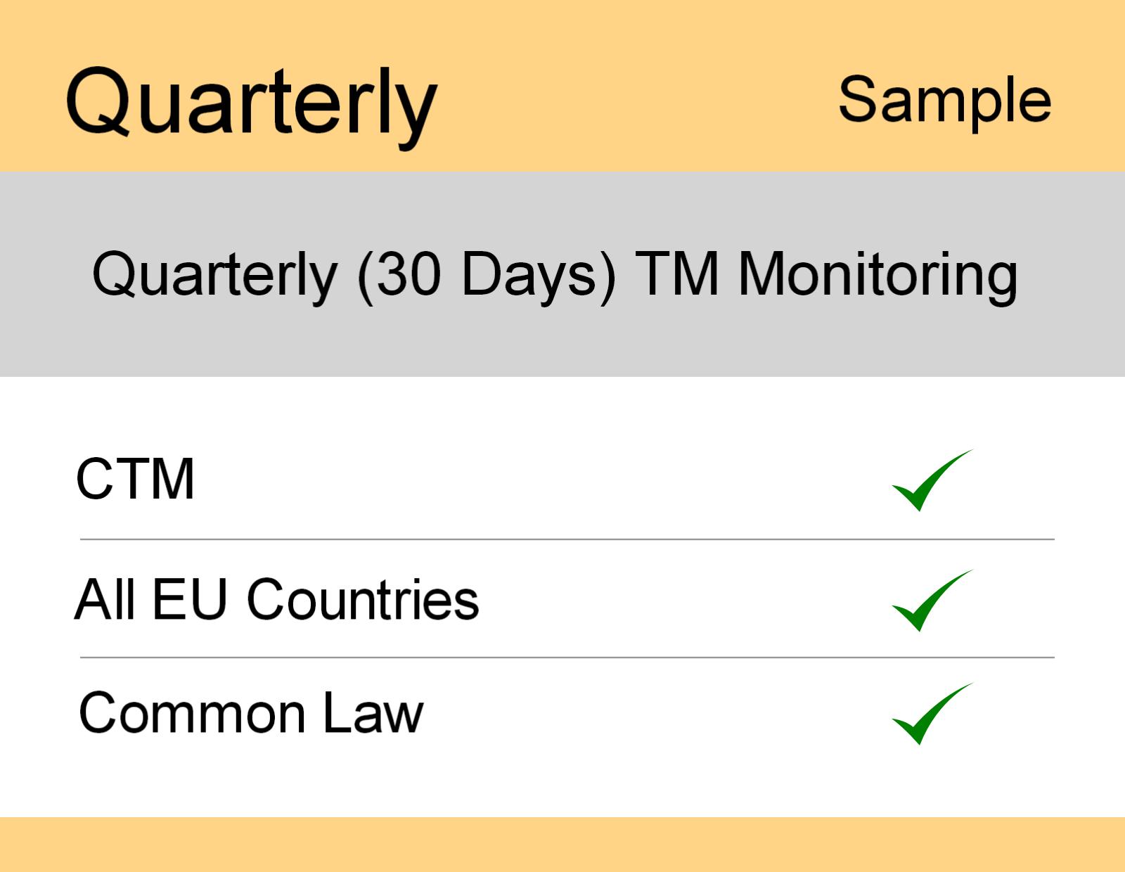 Image for Quarterly : Europe TM Monitoring - Sample Report