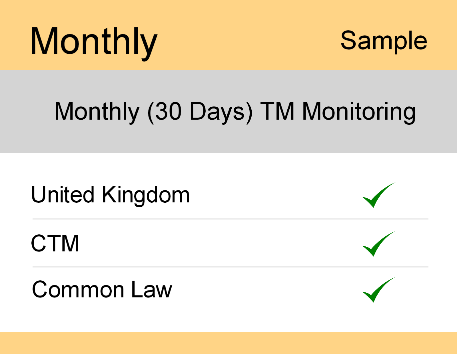 Image for Monthly : UK TM Monitoring - Sample Report