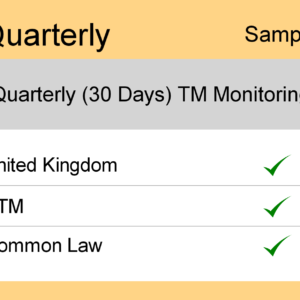 Image for Quarterly : UK TM Monitoring - Sample Report