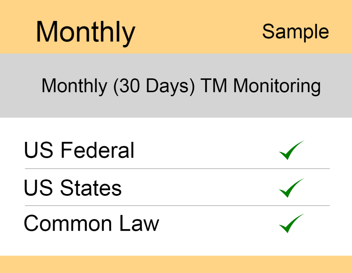 Image for Monthly : Monthly : US TM Monitoring - Sample Report